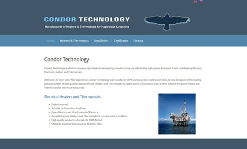 Condor Technology heaters and Thermostats
